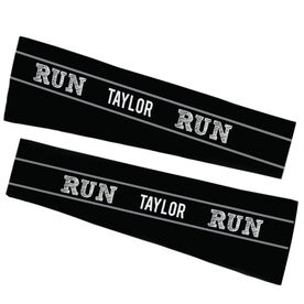 Running Printed Arm Sleeves - Run Your Name Run