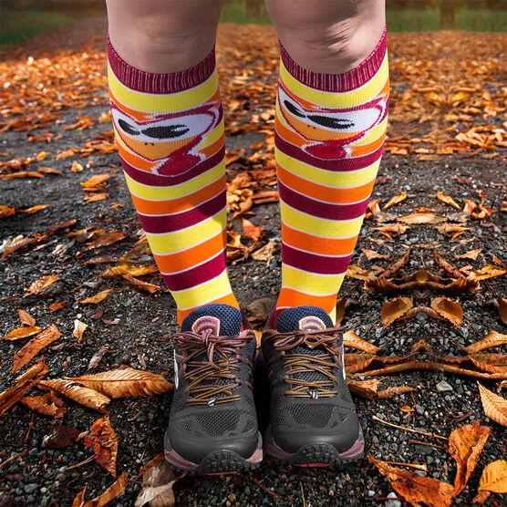 Yakety Yak Knee High Socks - Run Now Gobble Later