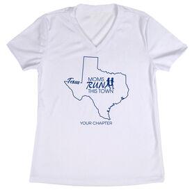 Women's Running Short Sleeve Tech Tee - Moms Run This Town Texas Runner