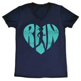 Women's Running Short Sleeve Tech Tee Love The Run