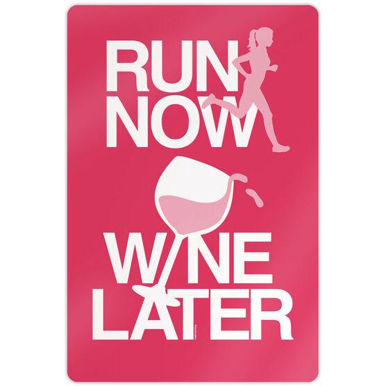 "Running 18"" X 12"" Wall Art - Run Now Wine Later"