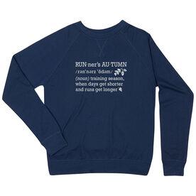 Running Raglan Crew Neck Sweatshirt - Runner's Autumn Definition