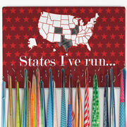 Running Large Hooked on Medals Hanger - Running The USA Map