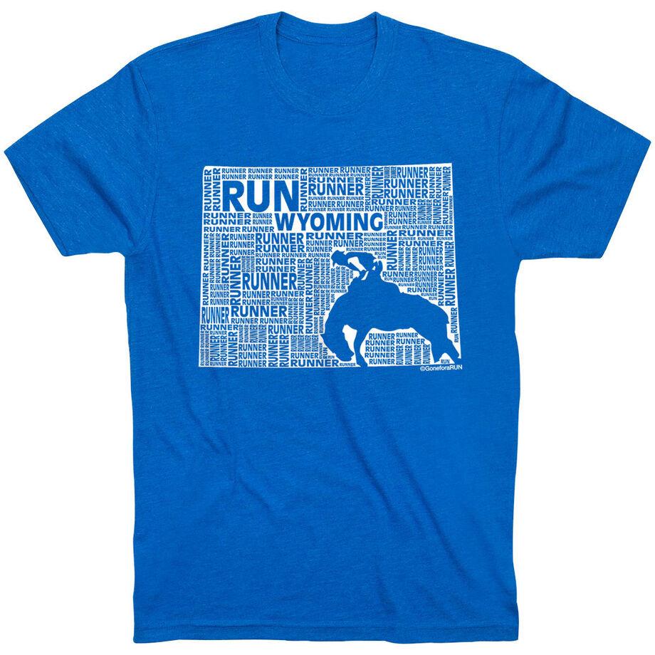 Running Short Sleeve T-Shirt - Wyoming State Runner