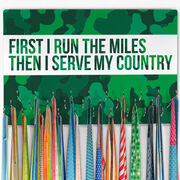 Running Large Hooked on Medals Hanger - Then I Serve My Country