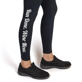 Runner's Leggings Run Done Wine Now