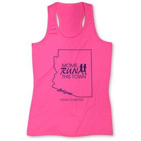 Women's Performance Tank Top - Moms Run This Town Arizona Runner