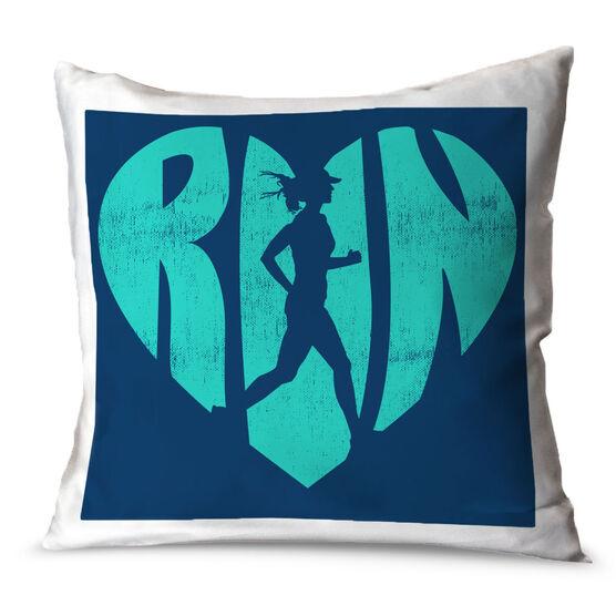 Running Throw Pillow Love The Run