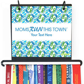 BibFOLIO+™ Race Bib and Medal Display - Moms Run This Town Logo Swirl Pattern