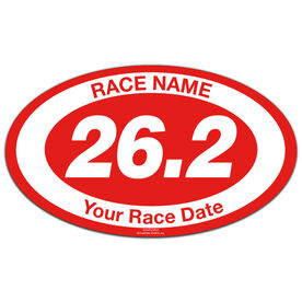Custom Race 26.2 Oval Car Magnet
