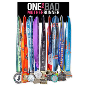 Running Hooked on Medals Hanger - One Bad Mother Runner