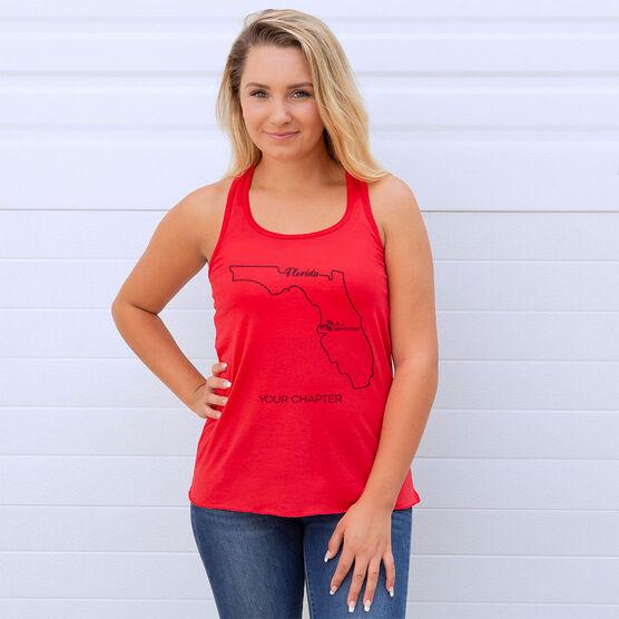 Flowy Racerback Tank Top - She Runs This Town Florida Runner