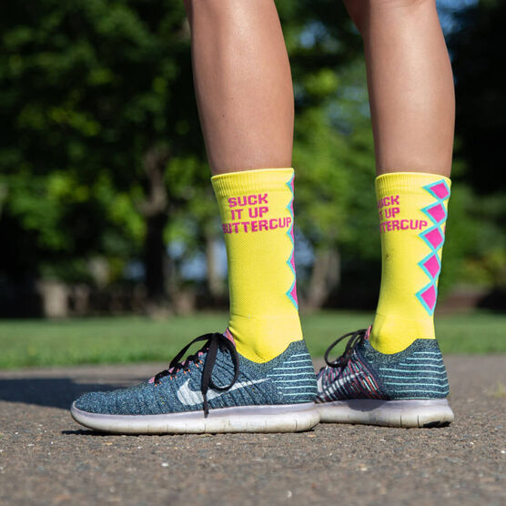 Socrates® Mid-Calf Performance Socks - Suck It Up Buttercup