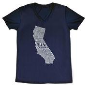 Women's Running Short Sleeve Tech Tee California State Runner