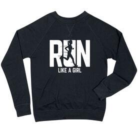 Running Raglan Crew Neck Sweatshirt - Run Like A Girl