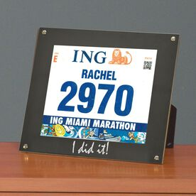BibDISPLAY - Runners Race Bib Frame - I Did It