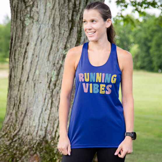 Women's Racerback Performance Tank Top - Running Vibes