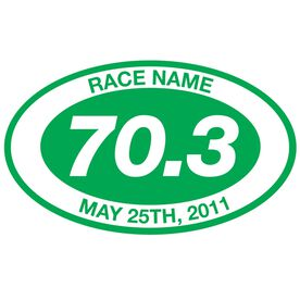 Personalized 70.3 Oval Running Vinyl Decal