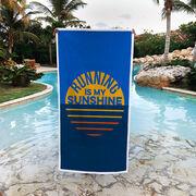 Running Premium Beach Towel - Running is My Sunshine