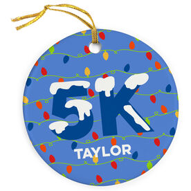 Running Porcelain Ornament 5K Christmas Lights