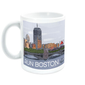 Running Coffee Mug - Boston Sketch