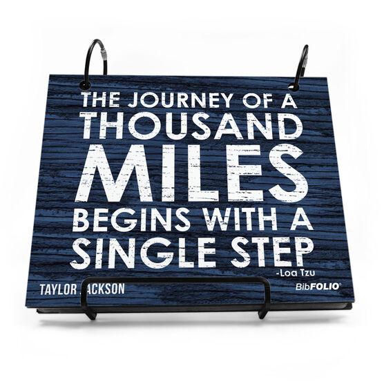 BibFOLIO® Race Bib Album - Journey of a Thousand Miles Rustic