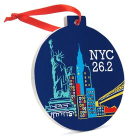 Running Round Ceramic Ornament - NYC 26.2