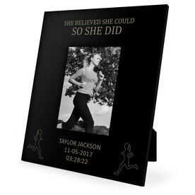 running engraved picture frame she believed she could so she did - Engraved Photo Frame