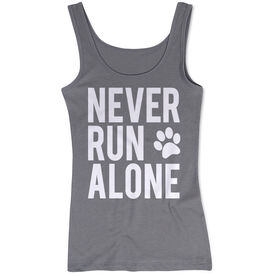 Women's Athletic Tank Top - Never Run Alone (Bold)
