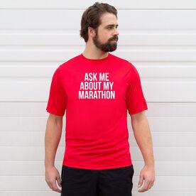 Men's Running Short Sleeve Tech Tee - Ask Me About My Marathon