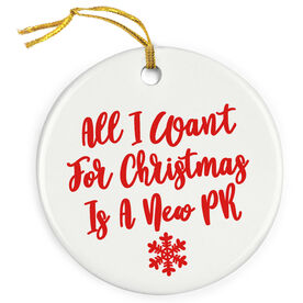 Running Porcelain Ornament - All I Want For Christmas (Script)