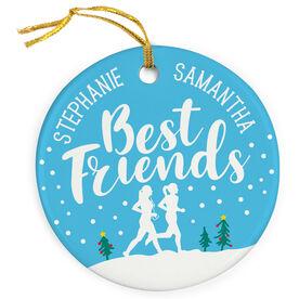 Running Porcelain Ornament - Best Friends
