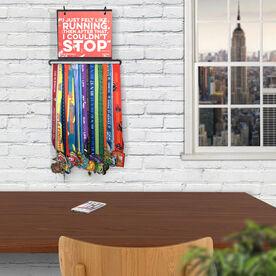 BibFOLIO+™ Race Bib and Medal Display - I Just Felt Like Running Quote