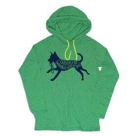 Women's Running Lightweight Hoodie - I'd Rather Be Running with My Dog