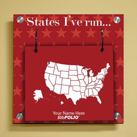 Dry Erase Running The USA Map Wall BibFOLIO® Display