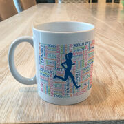 Running Coffee Mug - Inspirational Words Female