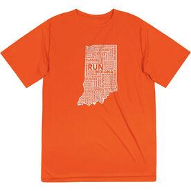 Men's Running Short Sleeve Tech Tee - Indiana State Runner