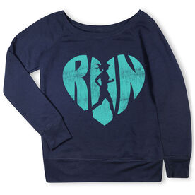 Running Fleece Wide Neck Sweatshirt - Love The Run