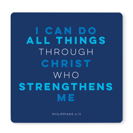 "Running 12"" X 12"" Removable Wall Tile - I Can Do All Things Through Christ"