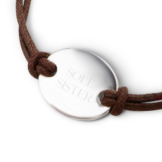 Sterling Silver Cord Bracelet Sole Sister