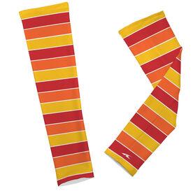 Printed Arm Sleeves Thanksgiving Stripes