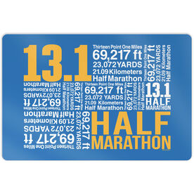 "Running 18"" X 12"" Wall Art - 13.1 Math Miles"