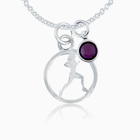 Sterling Silver Runner Circle Necklace