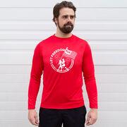 Men's Running Long Sleeve Tech Tee - Let Freedom Run