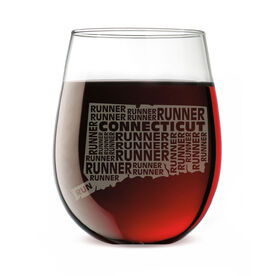 Stemless Wine Glass Connecticut State Runner