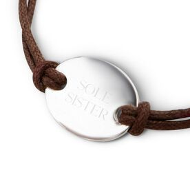 Sterling Silver Cord Bracelet Sole Sister