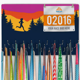 Running Large Hooked on Medals and Bib Hanger - Happy Hour