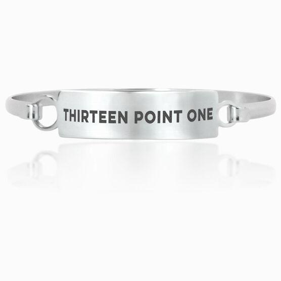 Running Engraved Clasp Bracelet Thirteen Point One