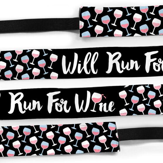 Running Julibands No-Slip Headbands - Will Run For Wine
