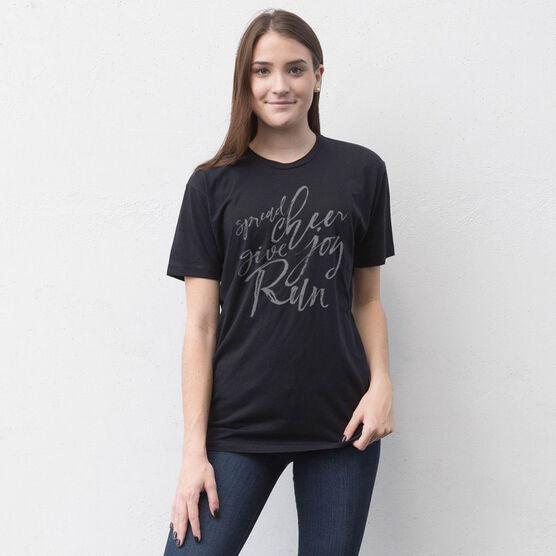 Running Short Sleeve T-Shirt - Spread Cheer Give Joy Run